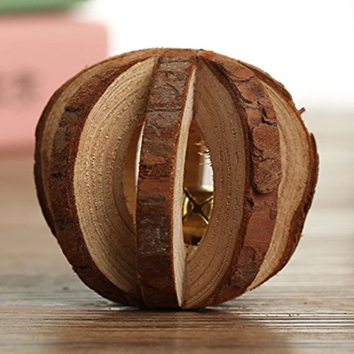 Gilroy Wooden Chew Toys Bell Roller Teeth Care Molar Toy for Pets Cat Rabbits Hamster Rat Guinea (Rodent Cat Toy)