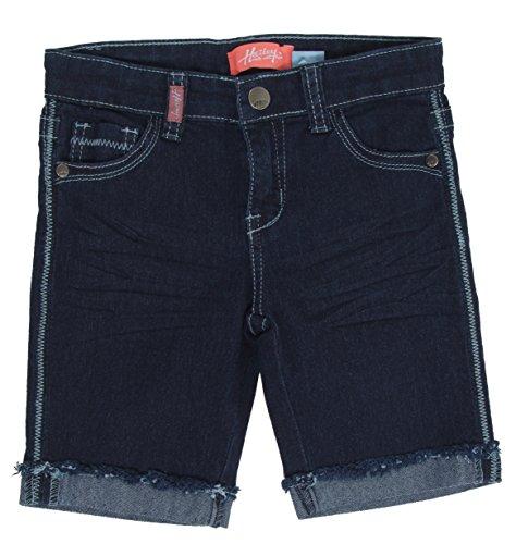 8H043(B) - Girls' Stretch 5 Pockets Premium Bermuda Denim Jeans Shorts in Navy Size 10