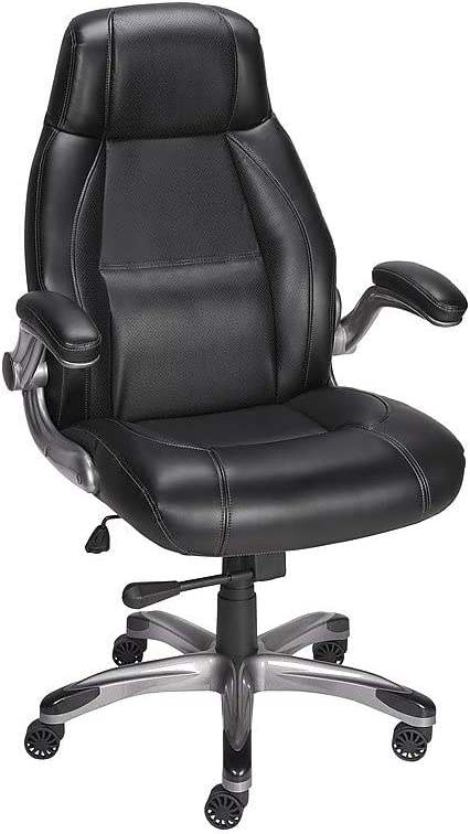 Staples 923571 Torrent Bonded Leather Managers Chair Black