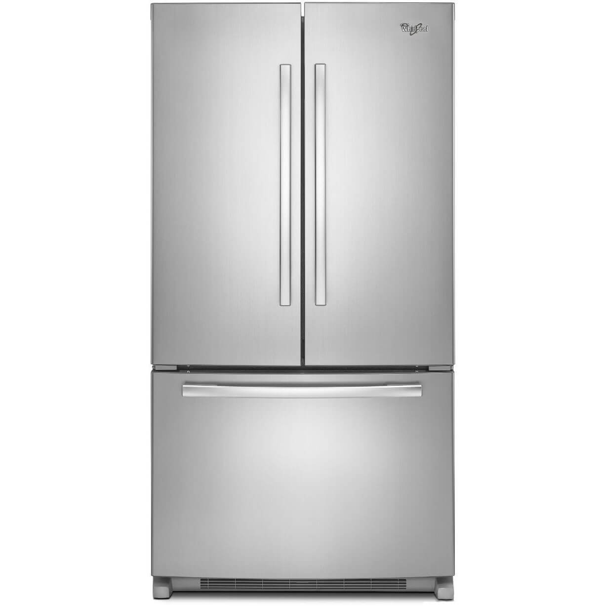 white french door refrigerator. Whirlpool WRF540CWBM 19.6 Cu. Ft. Stainless Counter-Depth French Door Refrigerator White