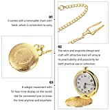 ibasenice Pocket Watch Vintage Pocket Watch with