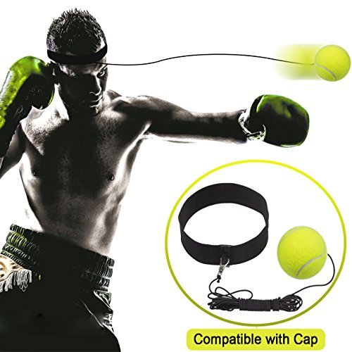 Boxing Reflex Ball Fight Ball with Adjustable Headband for Reflex Speed Training Boxing Punch Exercise Training to Improve Reactions and Speed, Boxing Gym Equipment for Both Training and Fitness