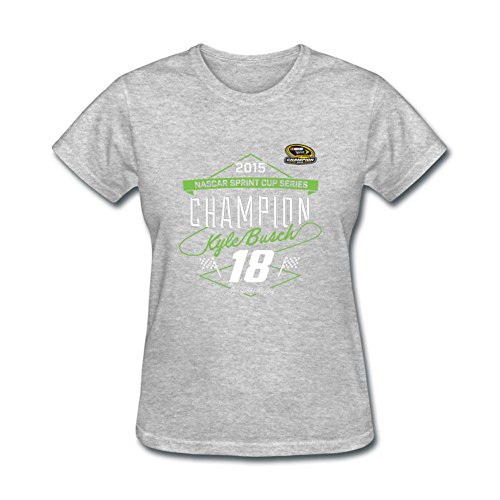 Kyle Busch Cotton - Womens Auto Racing Kyle Busch T Shirts 100% Cotton
