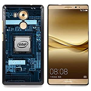 - CPU PCB Processor Geek - - Cubierta del caso de impacto con el patr??n Art Designs FOR Huawei Mate 8 Queen Pattern