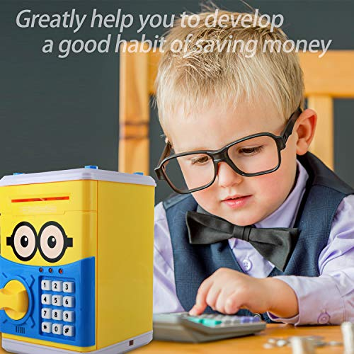 Cartoon Piggy Bank for Children Kids Password Electronic Money Bank, Mini ATM Electronic Coin Bank Coin Box, Great Christmas Gift for Children by CreaTion (Image #5)