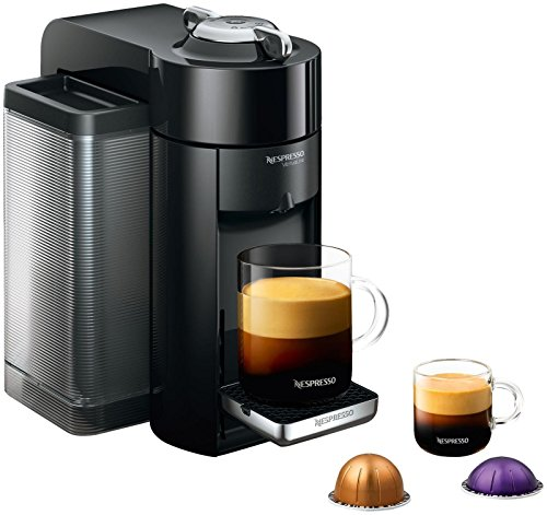 Nespresso GCC1-US-BK-NE VertuoLine Evoluo Deluxe Coffee and Espresso Maker, Black (Discontinued Model)