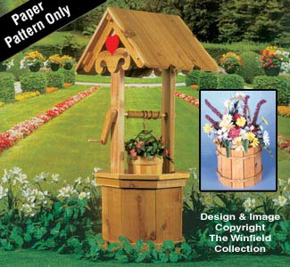 Decorative Wishing Well and Pail Patterns -