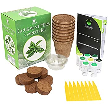 Herb Garden Starter Kit   Everything You Need To Grow Your Own Organic Herb  Garden From A Seed | 8 Culinary Herb Varieties Including: Basil, Rosemary,  Sage, ...