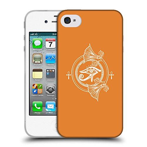 GoGoMobile Coque de Protection TPU Silicone Case pour // Q09880623 Religion 28 Orange Cadmium // Apple iPhone 4 4S 4G