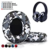 Beats Replacement Ear Pads by Wicked Cushions - Compatible with Studio 2.0 Wired/Wireless and Studio 3 Over Ear Headphones by Dr. DRE ONLY (Does NOT FIT Solo) (Snow Camo)
