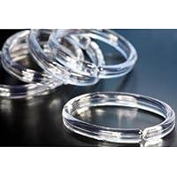 12 Duschvorhangringe - oval - transparent - Ringe für Duschvorhang - Vorhangringe