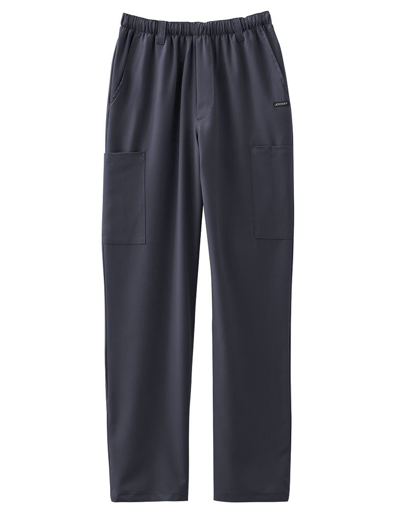 Classic Fit Collection by Jockey Men's 7 Pocket Scrub Pant Large Charcoal by Jockey