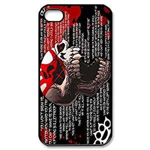 RUBBER TPU five finger death punch Snap-on Skin Personalized Custom TPU RUBBER CASE for iPhone 5 5s Durable Case Cover