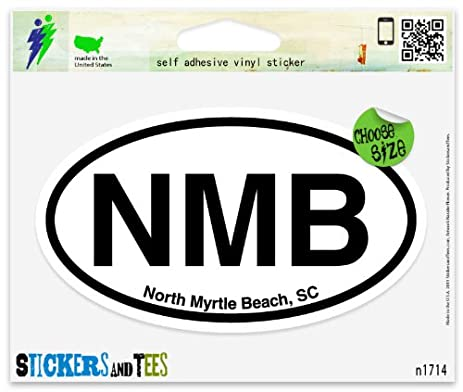 Nmb north myrtle beach south carolina oval vinyl car bumper window sticker 5