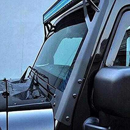 Willpower 52 inch LED Light Bar Upper Windshield Mounting Bracket Lower Corner Brackets 2007-2017 Jeep Wrangler JK 4WD Wrangler Unlimited JK 4WD//2WD