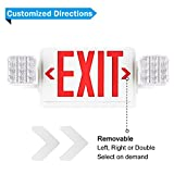 SPECTSUN Exit Sign with Emergency Light, Red