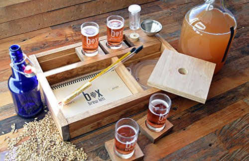 Handcrafted Small Batch Beer Making Home Brewing Kit with Coasters and Sampler Glasses (Small Beer Brewing Kit compare prices)