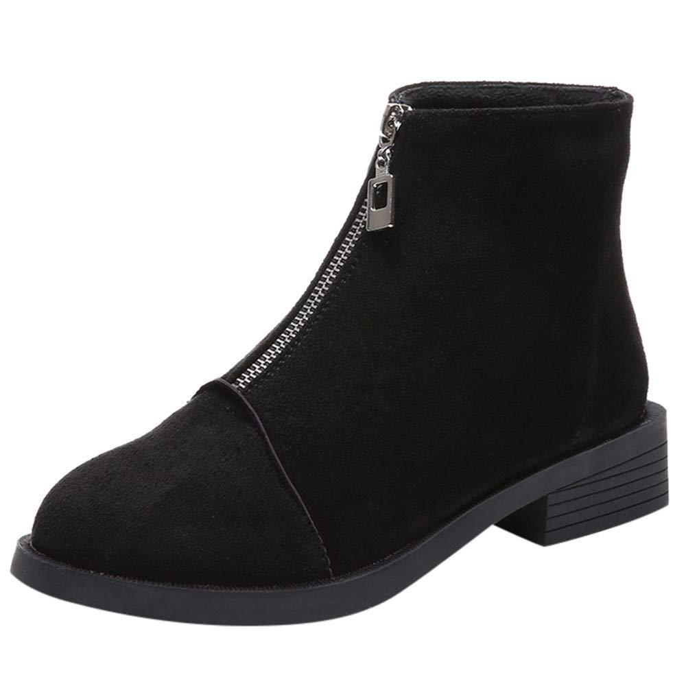 LuckyGirls Botas Ante para Mujer Cremallera Moda Botina de Nieve Calzado Zapatos