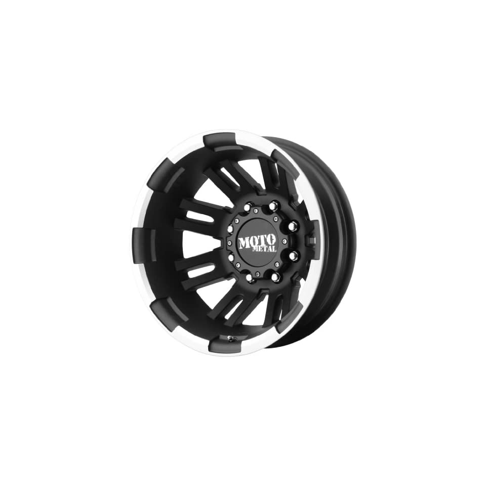 Moto Metal MO963 Matte Black Dually Outer Wheel With Machined Accents (17x6/8x200mm,  134mm offset)