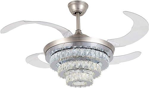 42″ Crystal Chandelier Ceiling Fan