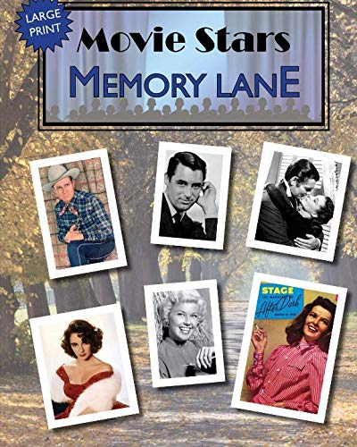 - Movie Stars Memory Lane: large print book for dementia patients