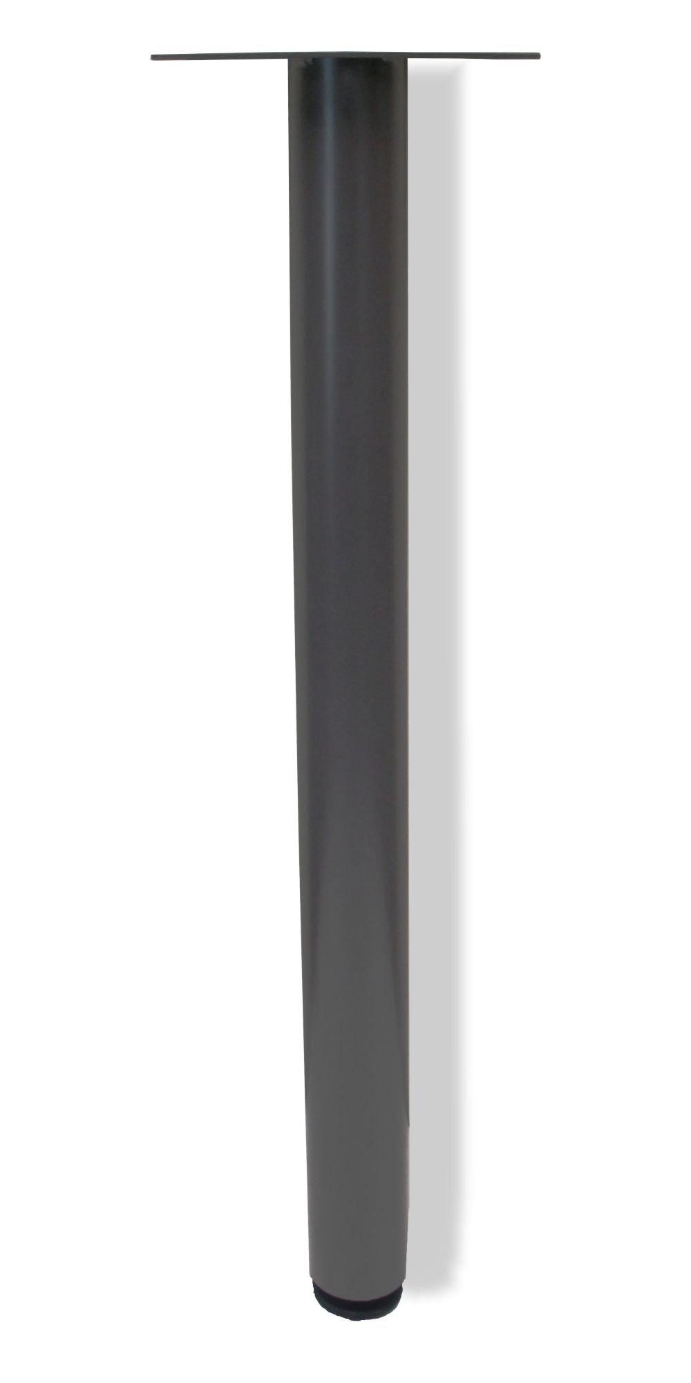 Table Leg Single 2'' Medium Tone with Glide