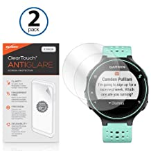 BoxWave Garmin Forerunner 235 ClearTouch Anti-Glare Screen Protector (2-Pack) - Garmin Forerunner 235 Anti-Glare, Anti-Fingerprint Matte Film Skin to Shield Against Scratches