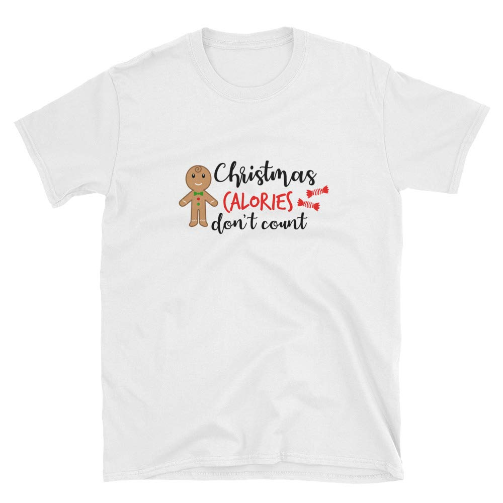 Cheeky Apparel Christmas Calories Dont Count Funny Short-Sleeve Unisex T-Shirt