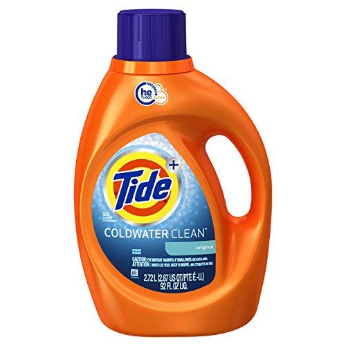 Tide Original Scent Coldwater HE Turbo Clean Liquid Laundry Detergent, 92 Oz, 59 Loads