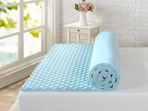 Zinus 1 5 Inch Swirl Gel Memory Foam Air Flow Topper