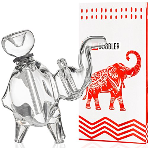 51Sk9-TN5QL Best Seller EPIC 5'' Clear Glass Water Elephant Top Quality