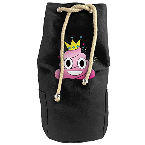 Inappropriate Halloween Costumes For The Office (Vintage Princess Poop Canvas Drawstring Rucksack Travel Daypack)