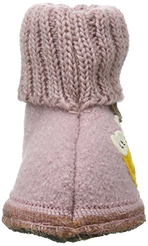 Haflinger Hüttenschuh Biene - Zapatillas de casa Unisex Niños Pink (rosenholz)