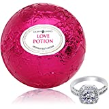 Health & Personal Care : Bath Bomb with Ring Inside Love Potion Extra Large 10 oz. Made in USA (Surprise)