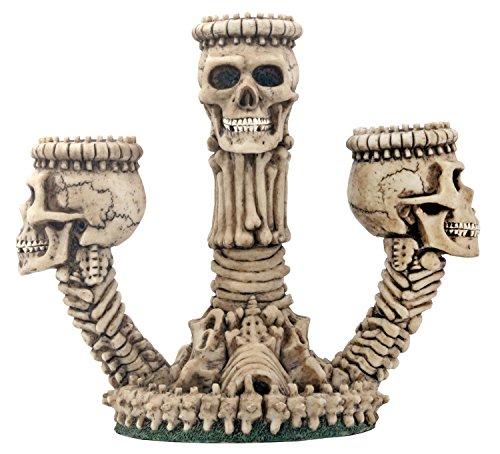 Ossuary Skeleton Triple Votive Candle