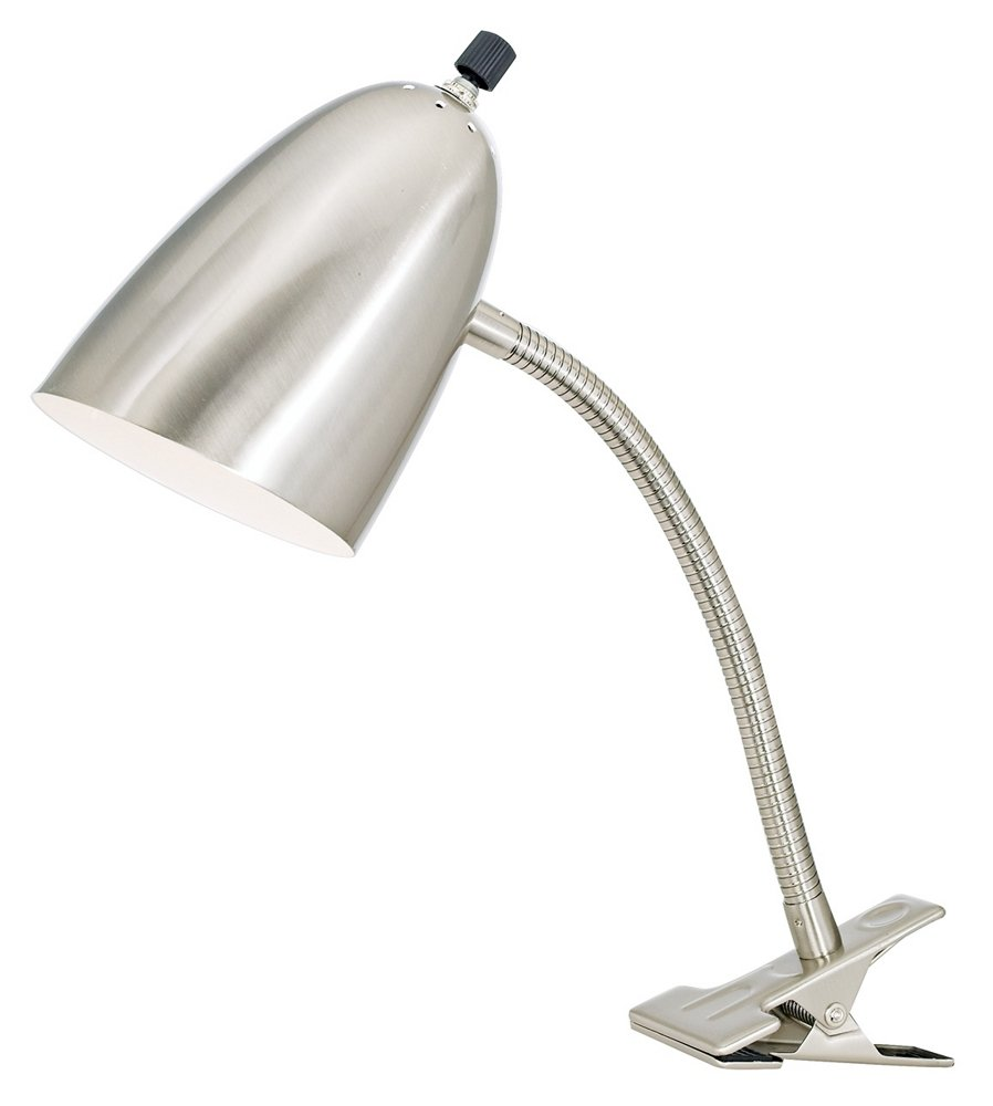 Brushed Steel Gooseneck Headboard Clip Lamp - Desk Lamps - Amazon.com