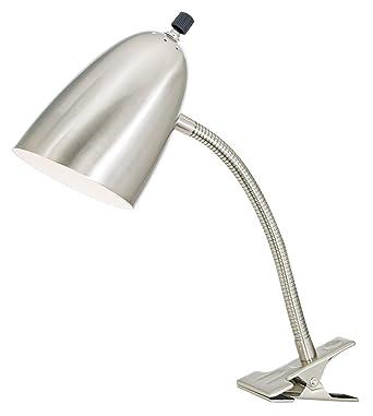 Brushed Steel Gooseneck Headboard Clip Lamp - Desk Lamps - Amazon.com