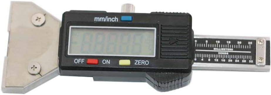 Ebilun Digitaler Reifenprofil Tiefenmesser Digitaler Reifendruckmesser Messgerät Mit Lcd Display Für Lauffläche Reifenprüfer Für Pkw Lkw Vans Suv Metrische Zoll Umwandlung 0 25 4 Mm Auto