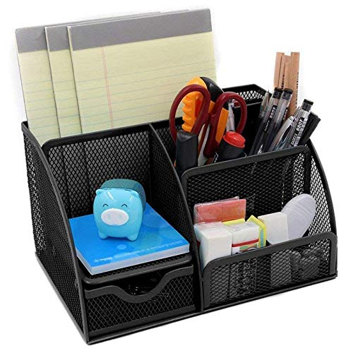Nrpfell 1pcs Office Stationery Multi-Function Stationery Pen Holder Grid Storage Box by Nrpfell (Image #1)