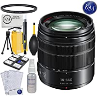 Panasonic 14-140mm f/3.5-5.6 ASPH Lens + K&M Lens Bundle