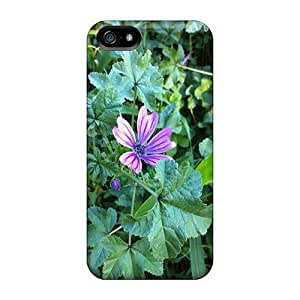 LJF phone case Awesome Flower Flip Case With Fashion Design For Iphone 5/5s