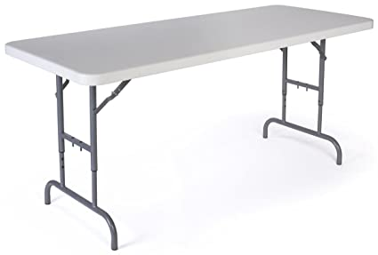 Image Unavailable Image Not Available For Color Displays2go Adjustable Height Folding Table