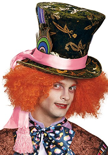 Mad Hatter Costume Makeup (Disguise Mad Hatter Prestige Adult Hat)
