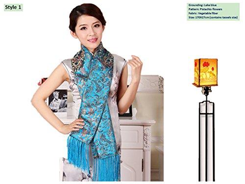 Brocade Shawls Silk Scarve Business Gifts Handicrafts Stoles - Brocade Silk Scarf