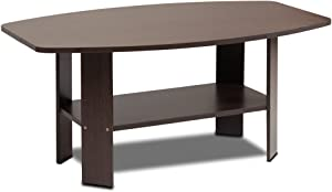 Furinno Simple Design Coffee Table, Dark Brown