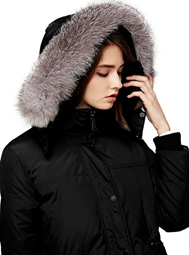 down coat with real fur hood - 3