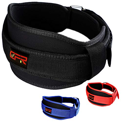 (KIWI RATA Weightlifting Belt for Squats, Crossfit, Lunges Powerlifting, Gym Workouts, Bodybuilding Comfortable Lumbar Support with Back Injury Prevention,Stable Waist Belt for Men & Women)