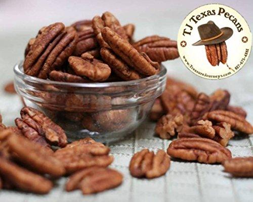(Jr. Mammoth Roasted & Salted Pecan Halves TJ Texas Pecans - 16 Oz Bag (2 Pack))