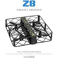 Leewa Z8 RC Mini Drone 0.3MP Wifi 2.4G 6AXIS Altitude Hold UFO Quadcopter Pocket Drone (Black)
