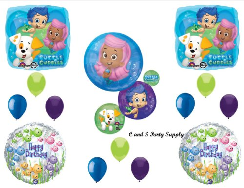 NEW Bubble Guppies XL Birthday Party Balloons Decorations Supplies NEW! by Qualatex by Qualatex]()